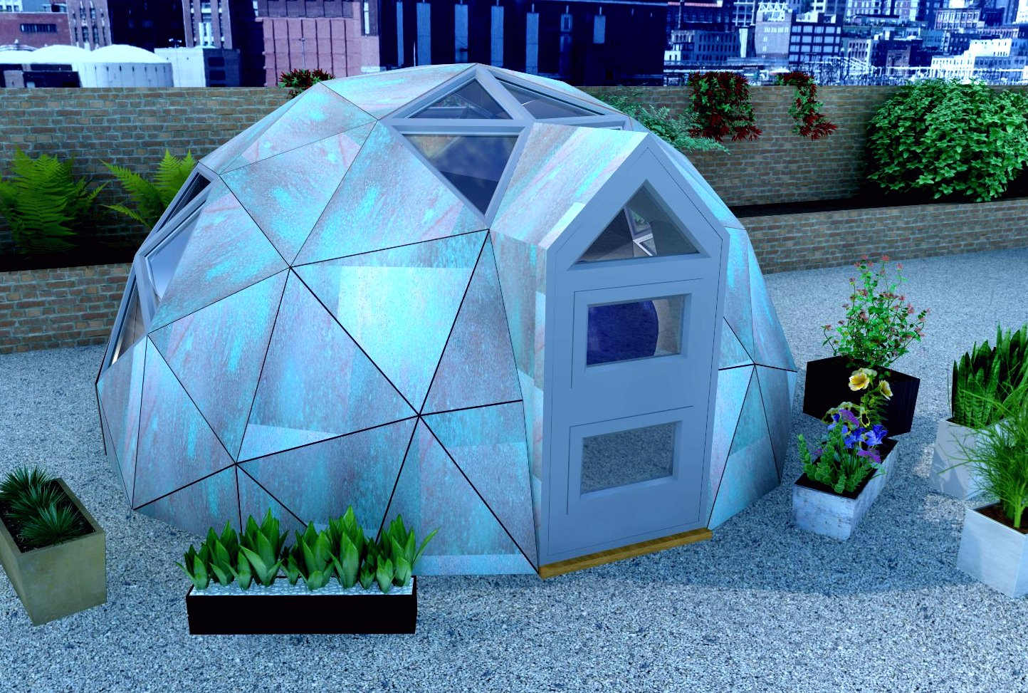 Image of the exterior of a Unique Dome.