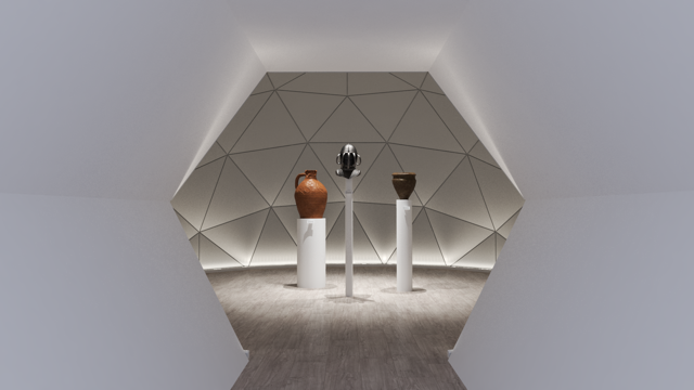 Image of the exterior of a Unique Dome as a gallery exhibition space.